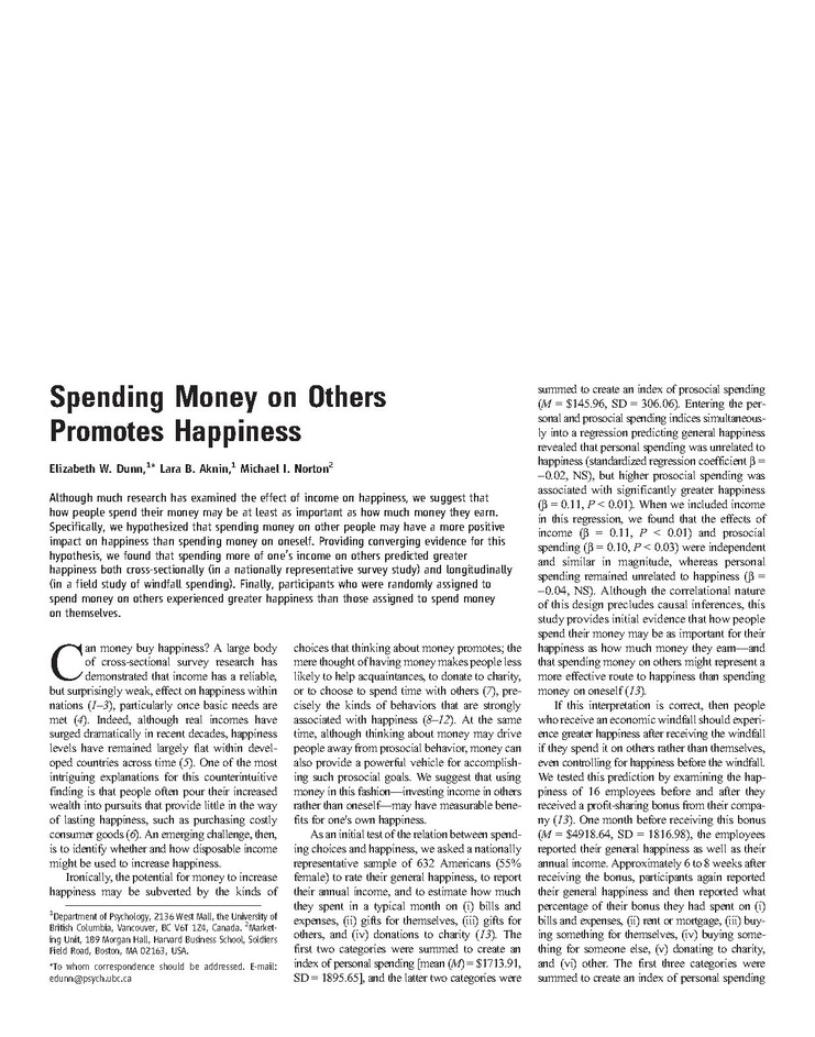 קובץ:Spending Money on Others Promotes Happiness.pdf